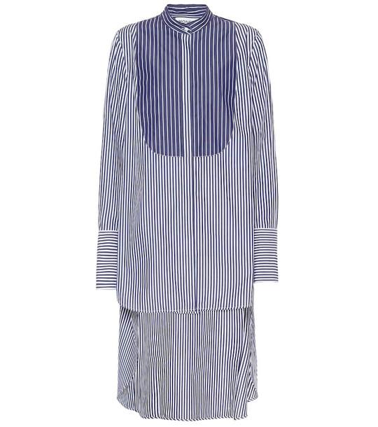 Monse Striped cotton shirt in blue