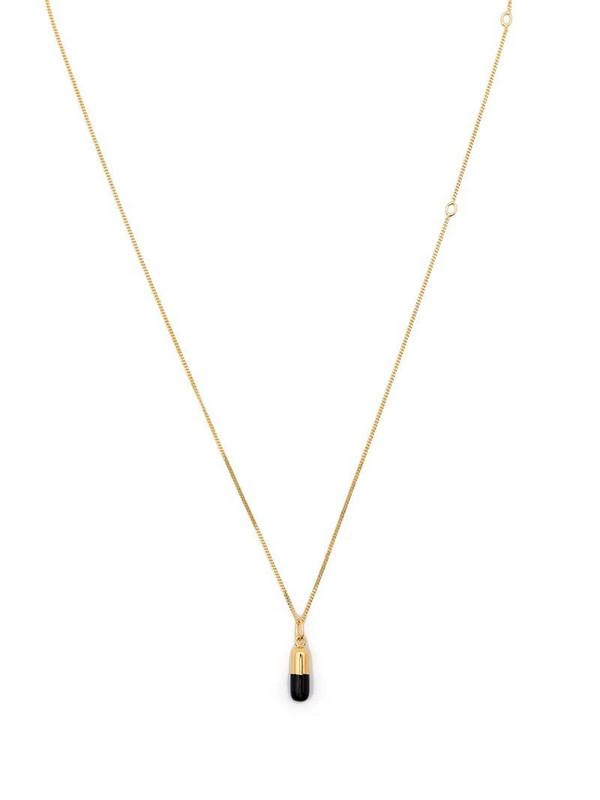 True Rocks pill pendant necklace in gold
