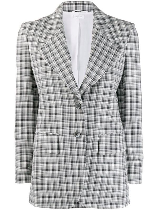 Thom Browne gingham-check blazer in grey
