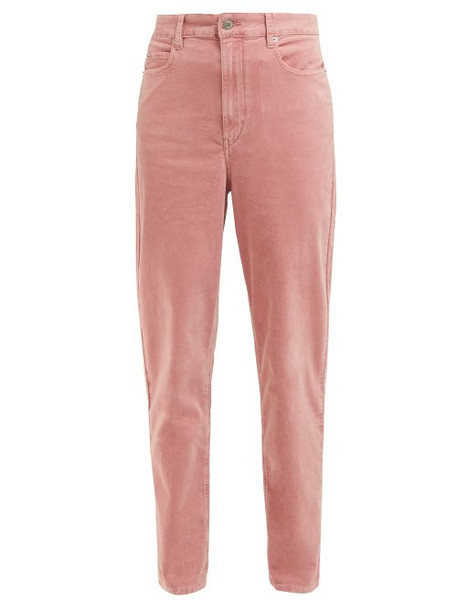 jeans high waisted high velvet pink