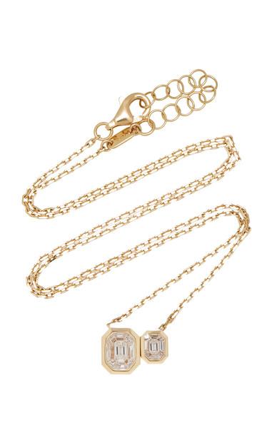 AS29 Duplex Illusion 18K Gold Diamond Necklace