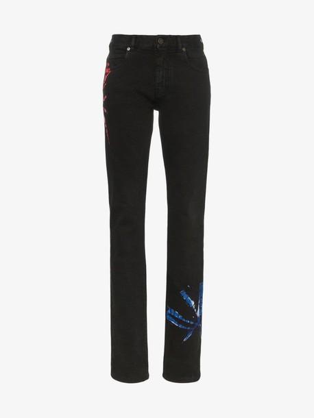 Calvin Klein 205W39nyc tie-dye print slim-fit Jeans