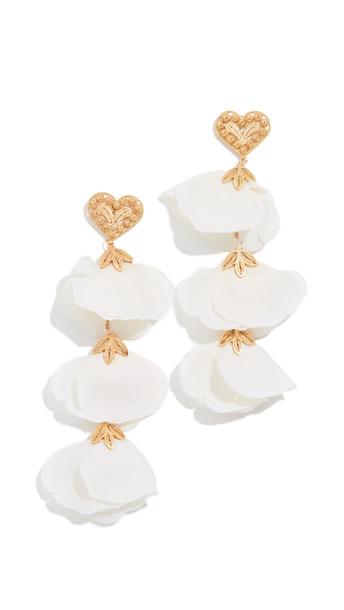 Mallarino Bella Heart Earrings in gold / cream