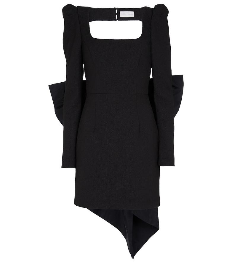 Rebecca Vallance Monique crêpe minidress in black