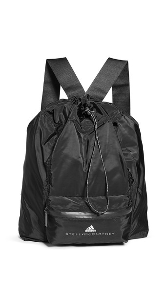 adidas by Stella McCartney Gymsack Backpack in black / white