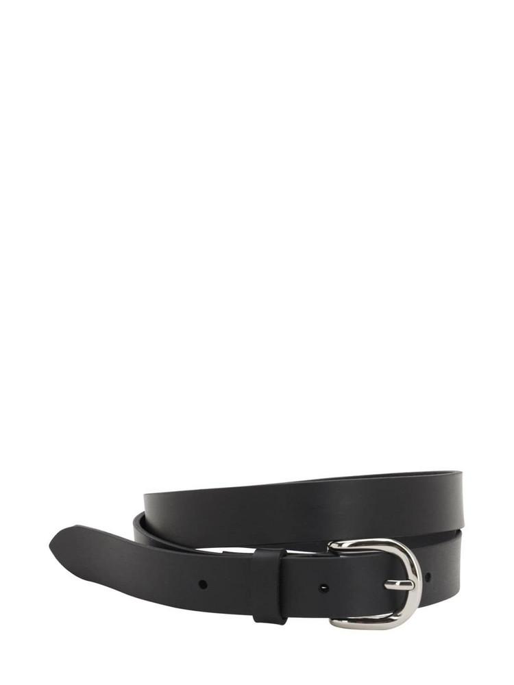 ISABEL MARANT 25mm Zap Leather Belt in black