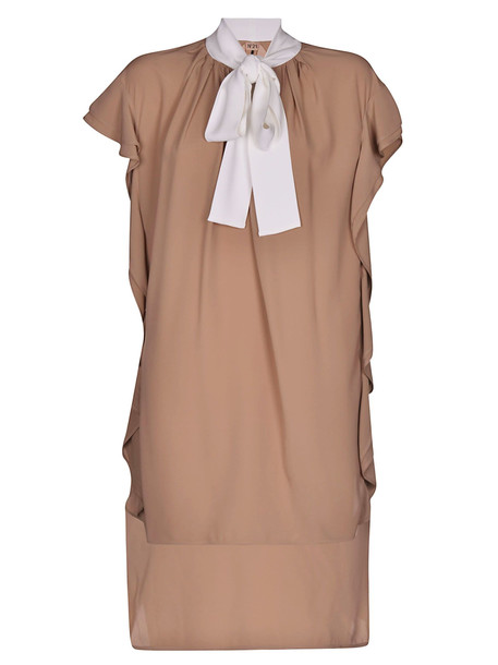 N.21 Ruffled Dress in beige