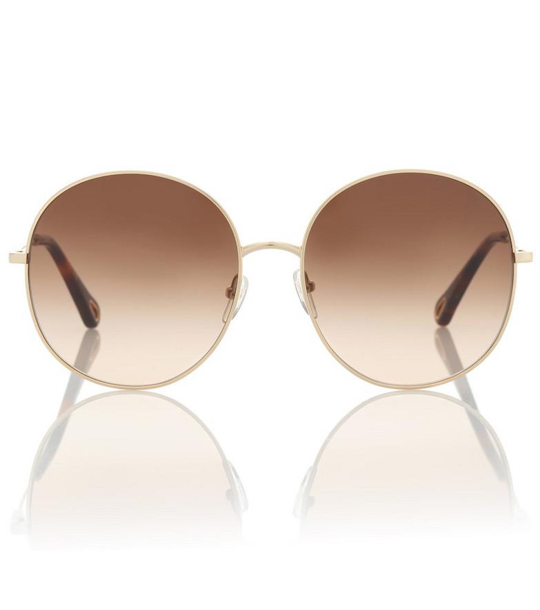 Chloé Round sunglasses in brown