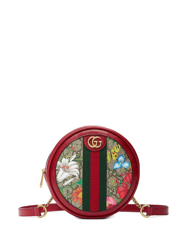 Gucci Ophidia Flora pattern shoulder bag in red
