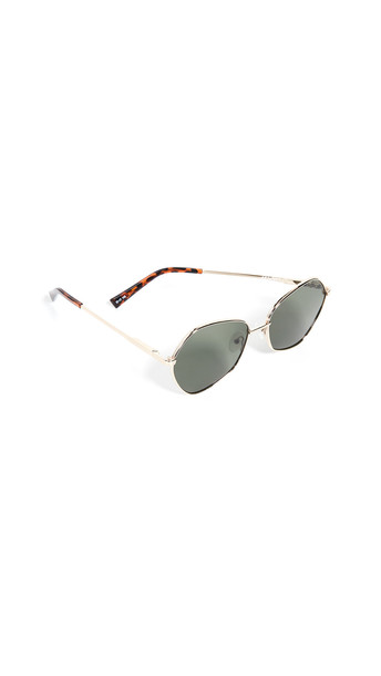 Le Specs Escadrille Sunglasses in gold / khaki