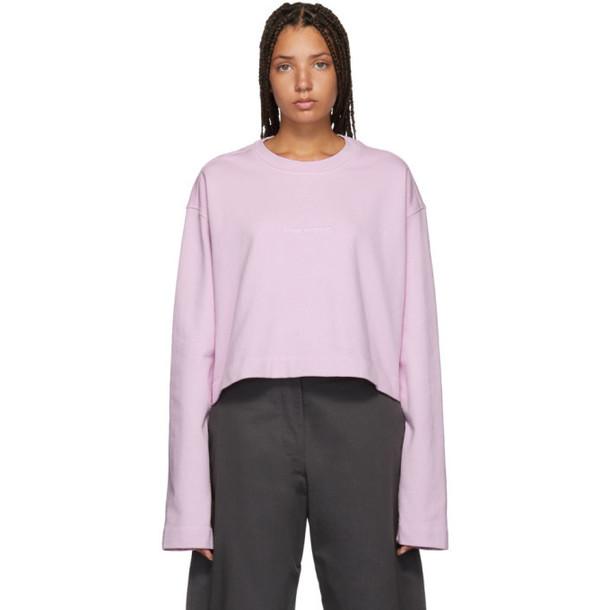 Acne Studios Pink Cropped Odice Sweatshirt