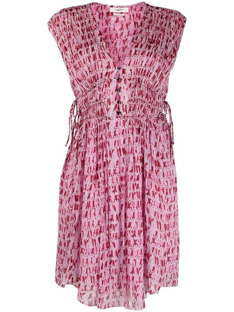 Isabel Marant Étoile sleeveless tie-waist dress in red