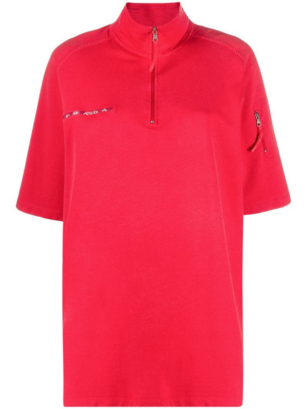Prada Pre-Owned 1990s high-neck polo top in red