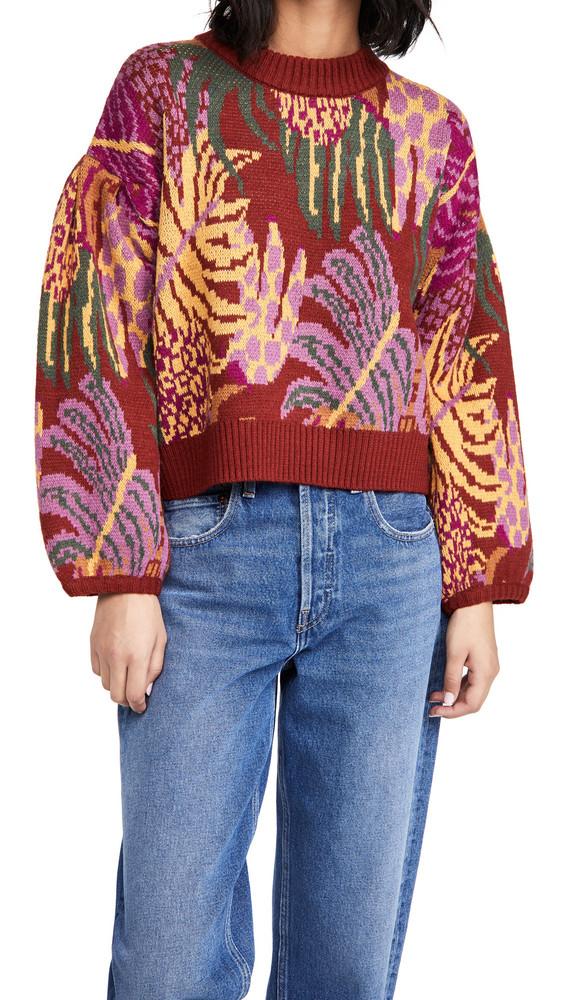 FARM Rio Graphic Jungle Sweater in multi