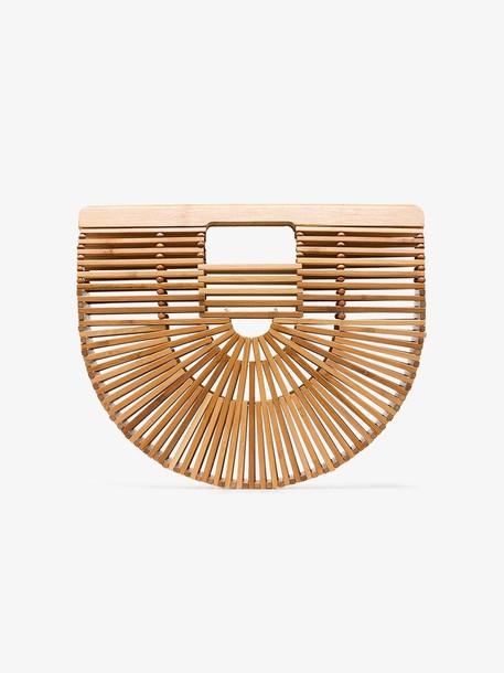 Cult Gaia brown Ark Small bamboo Clutch Bag