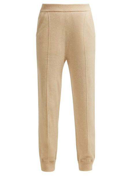 Joseph - Mongolian Cashmere Track Pants - Womens - Beige