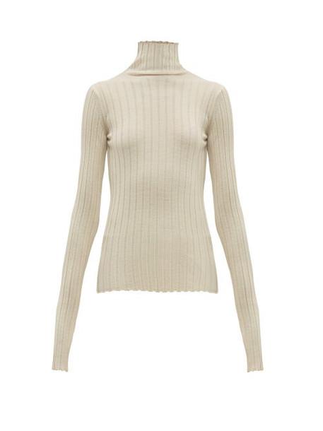 Petar Petrov - Karen High Neck Ribbed Merino Wool Sweater - Womens - White