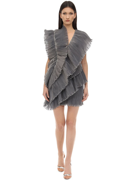 LANVIN Ruffled Tiered Dress in grey