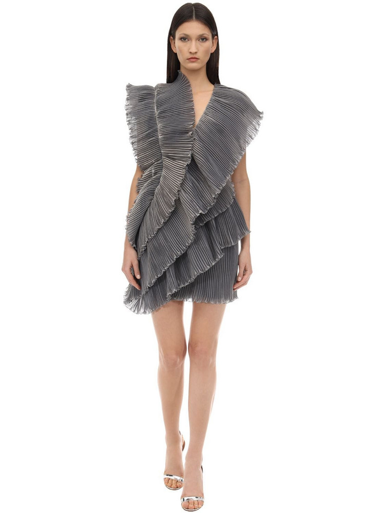 LANVIN Ruffled Tiered Dress in grey