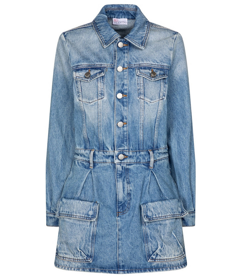 REDValentino denim playsuit in blue