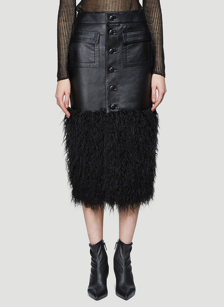 Saint Laurent Long Buttoned Skirt in Black size FR - 38