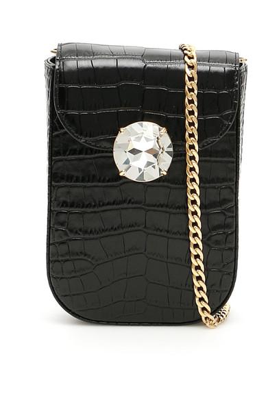 Miu Miu Miu Solitaire Mini Bag in black