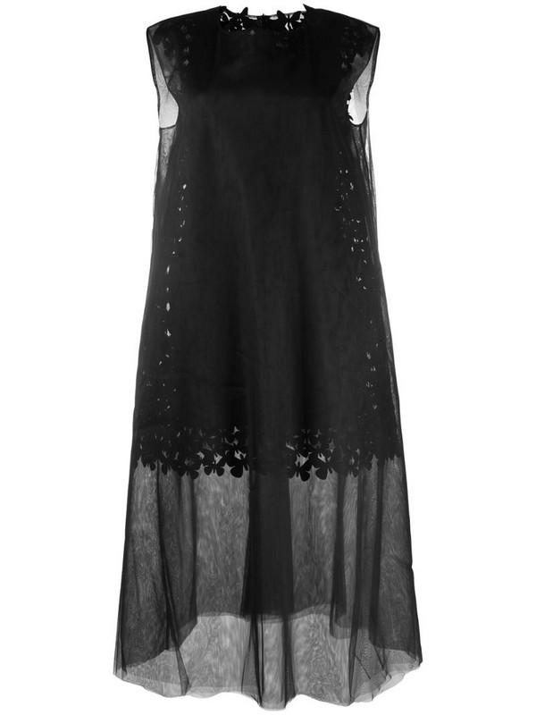 Paskal Mesh Butterfly laser-cut dress in black