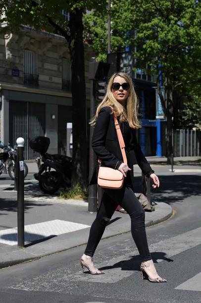 caroline louis pardonmyobsession blogger jacket jeans bag