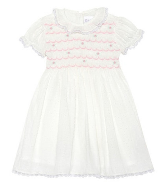 Rachel Riley Cotton dress and bloomers set in white