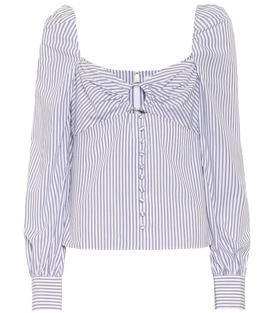 Jonathan Simkhai Striped cotton shirt in blue