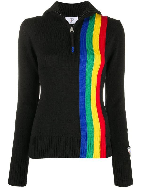 Rossignol x JCC striped zip jumper in black