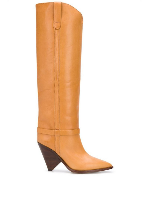 Isabel Marant pointed slip-on boots in brown