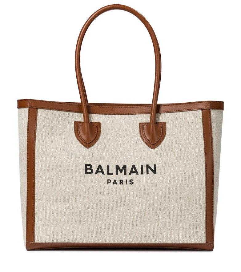Balmain B-Army 42 canvas shopper in beige