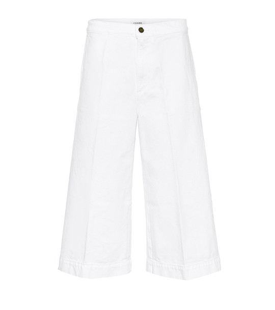 Frame Le Culotte cropped high-rise jeans in white