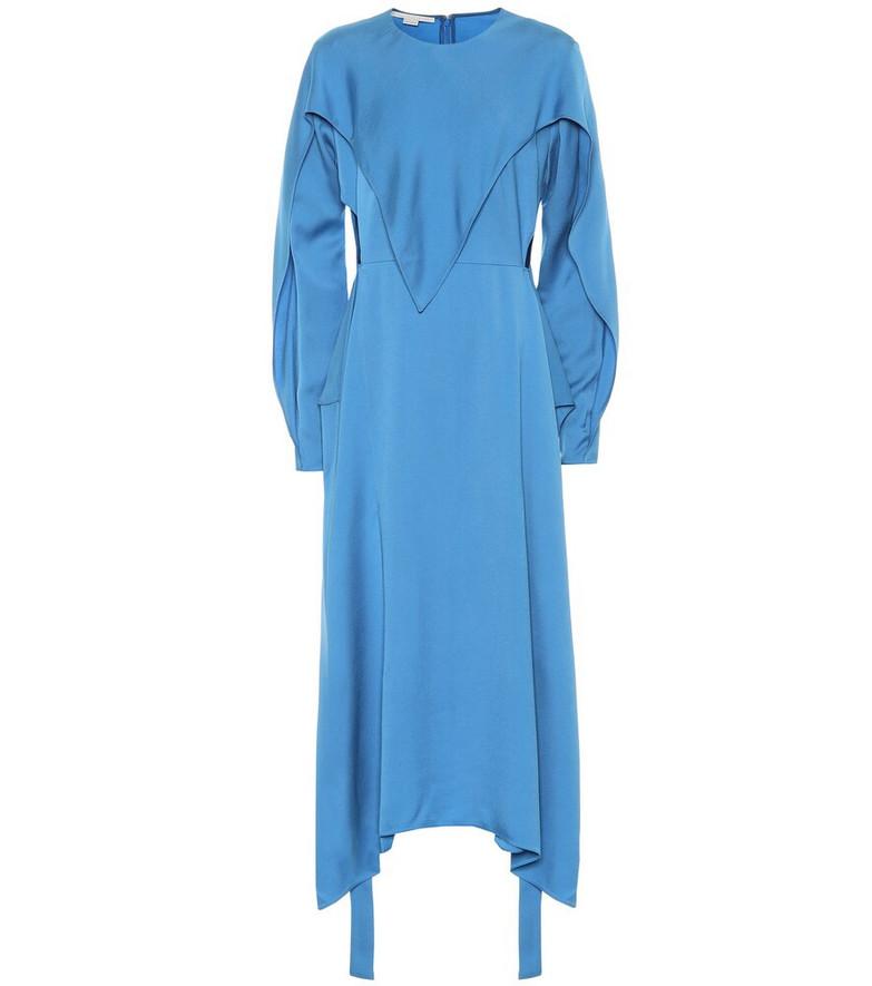 Stella McCartney Twill midi dress in blue