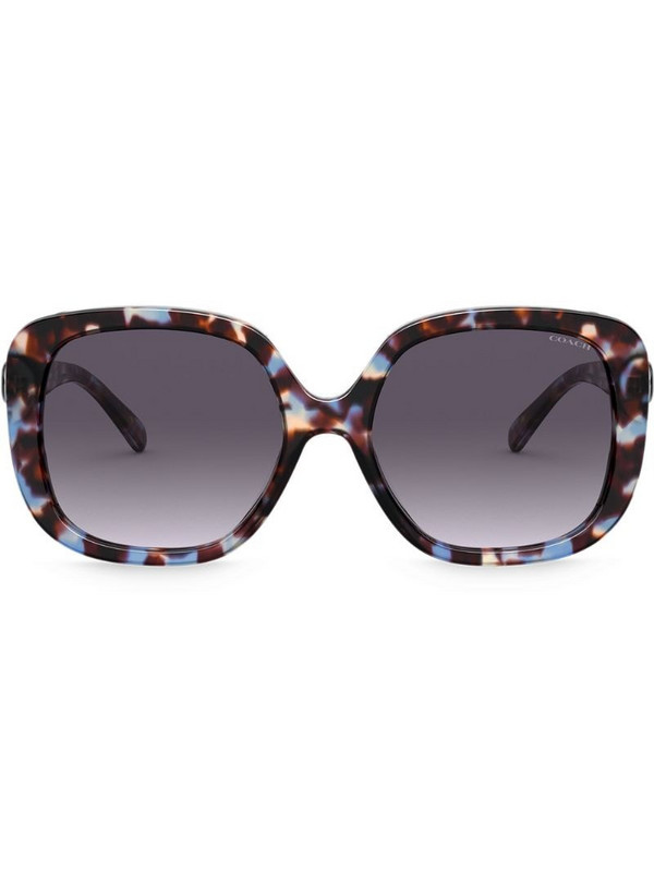 Coach marble effect sunglasses in blue