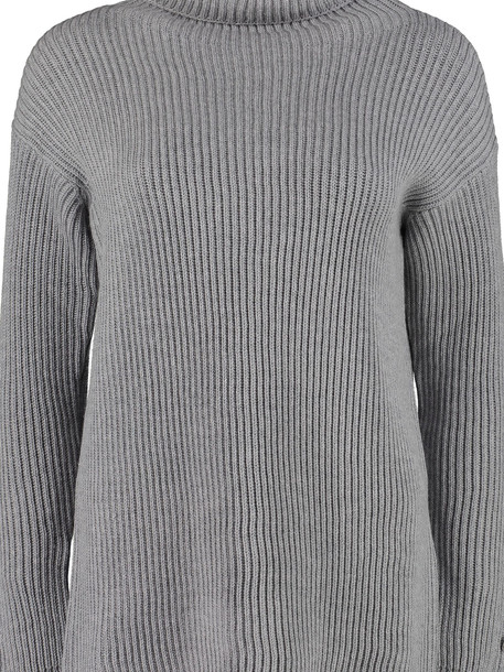 Max Mara Fattore Turtleneck Virgin-wool Pullover in grey