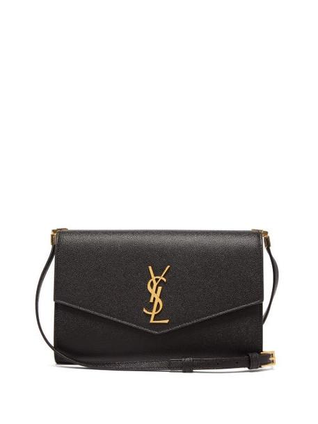 Saint Laurent - Uptown Mini Grained-leather Cross-body Bag - Womens - Black