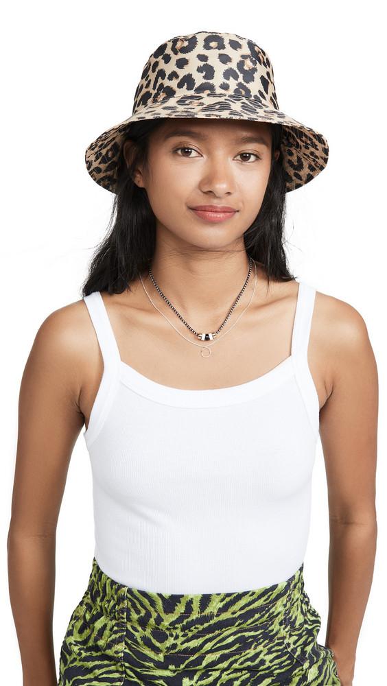 Loeffler Randall Bucket Hat in leopard