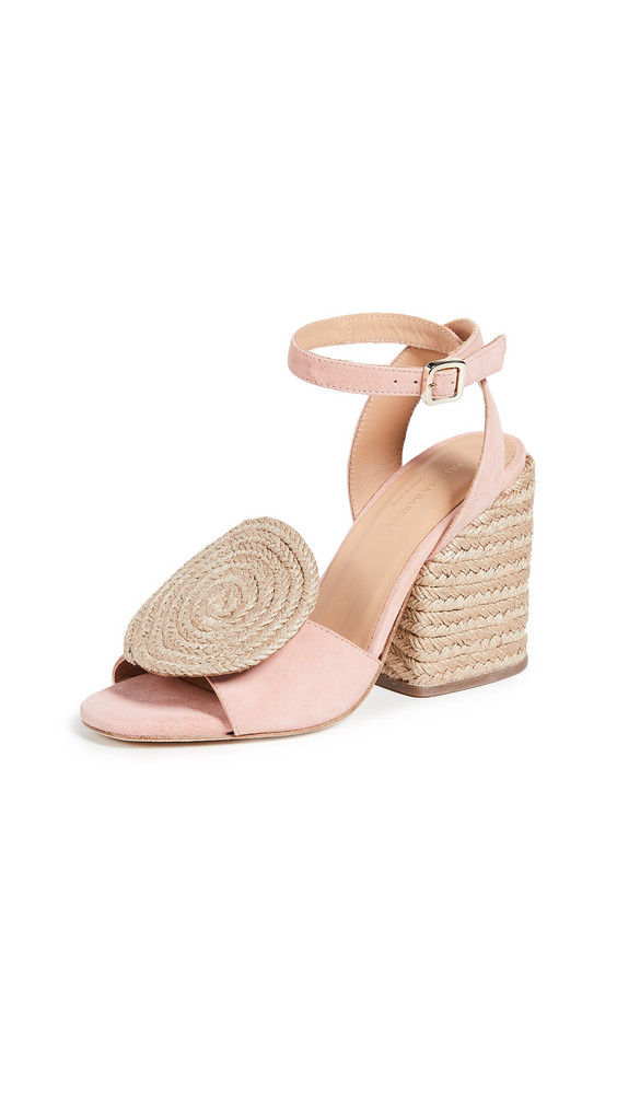Paloma Barcelo Emi Circle Espadrille Sandals in pink