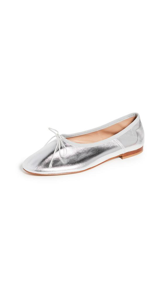 Mansur Gavriel Dream Ballerina Flats in silver