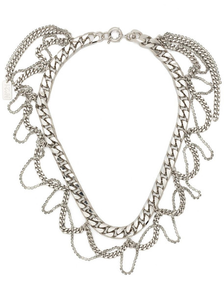 Nº21 curb-chain short necklace in silver