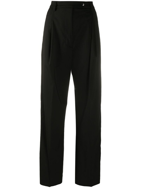 Barena high-waisted wide leg trousers in black