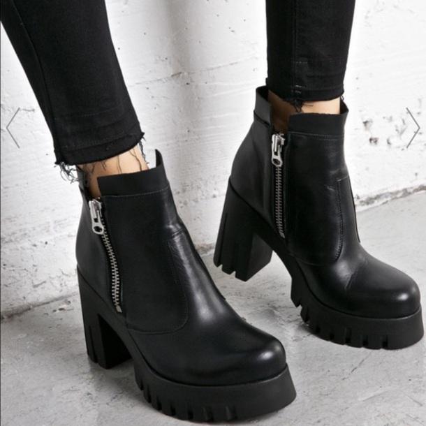 shoes booties heels black boots