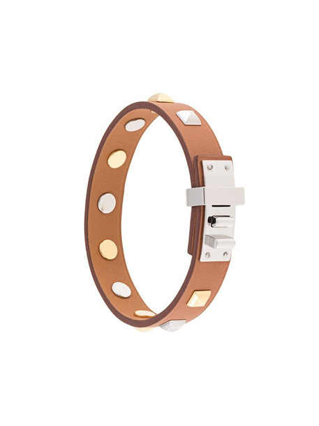 Hermès pre-owned Clous Carres bangle in brown