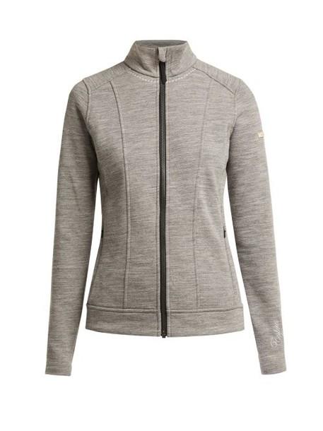 Capranea - Divine Zip Through Wool Blend Jacket - Womens - Grey