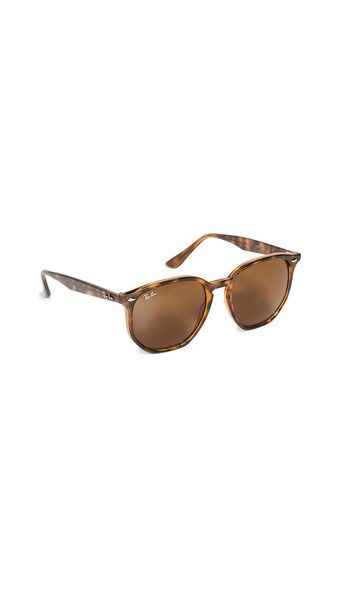 Ray-Ban Highstreet Hexagonal Sunglasses in brown