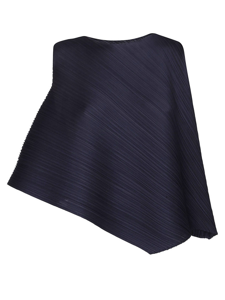 Issey Miyake Pleated Blouse in navy