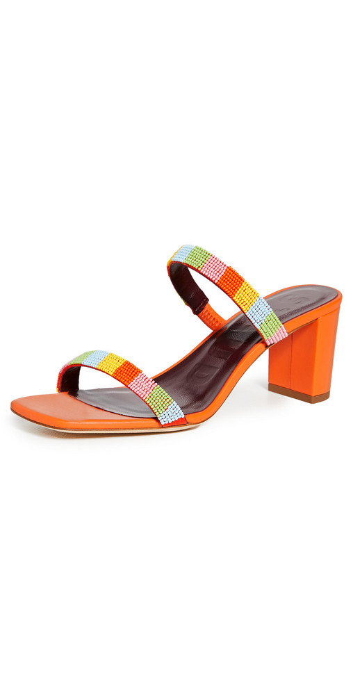 STAUD Frankie Beaded Sandals in multi