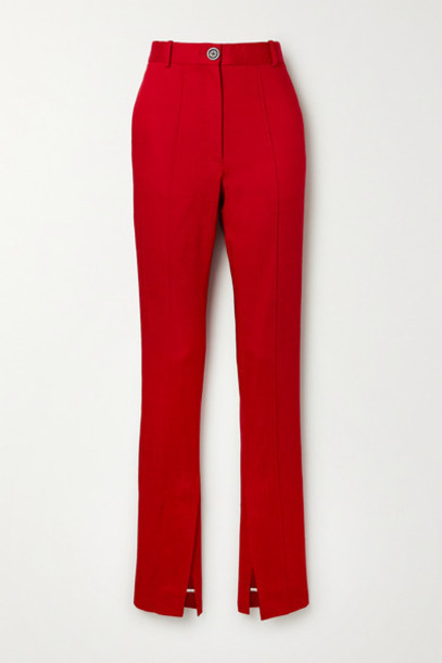 Peter Do - Woven Tapered Pants in red